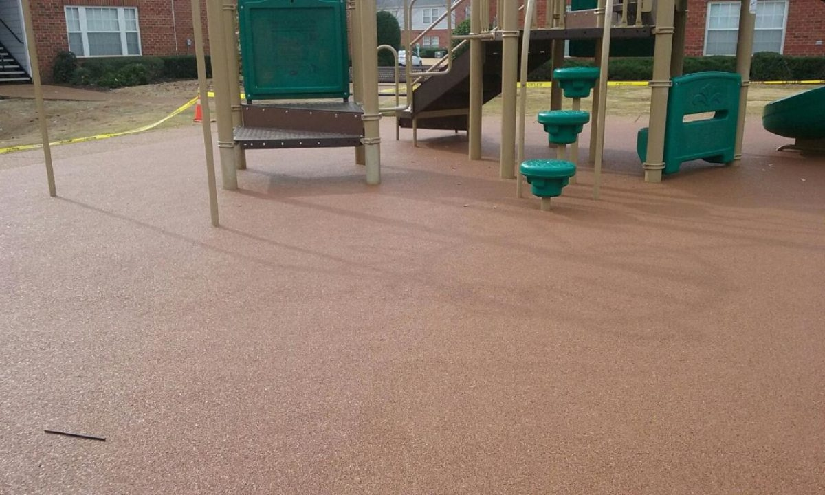 Apartment Complex Poured In Place Rubber Playground Surfacing 1