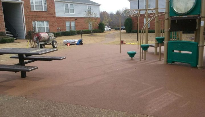 Apartment Complex Poured In Place Rubber Playground Surfacing 3
