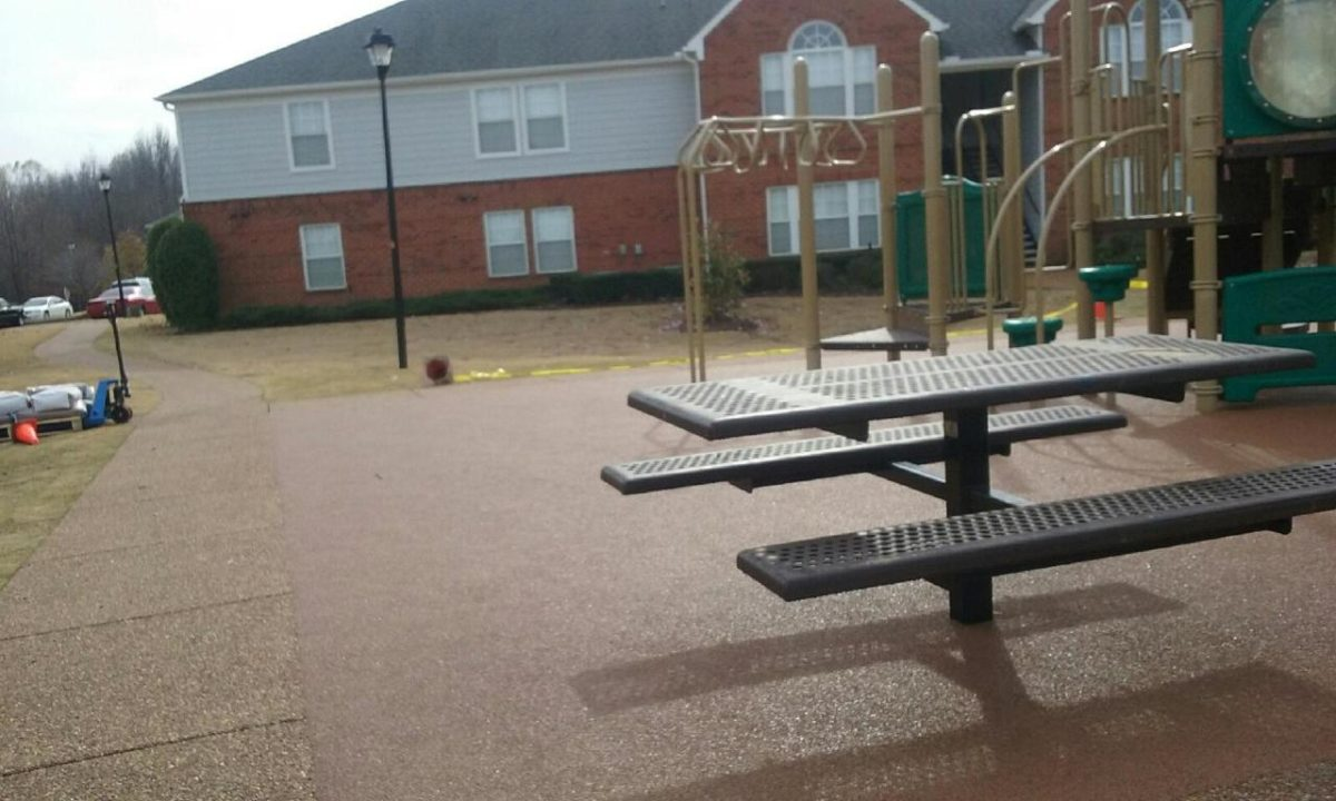 Apartment Complex Poured In Place Rubber Playground Surfacing 4