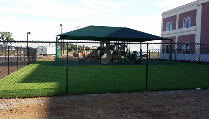 Commercial Playground Equipment Poured in Place Rubber Shade Structure 1