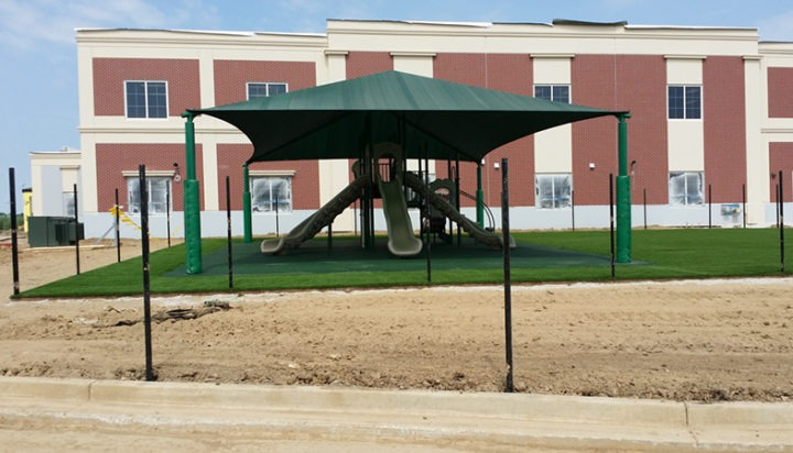 Commercial Playground Equipment Poured in Place Rubber Shade Structure 2