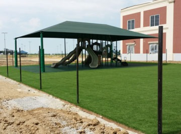 Playground equipment with shade