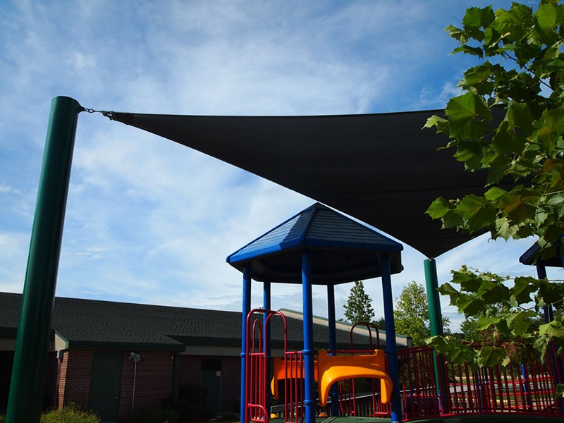 Elementary School Playground Sail Shade Structures 12