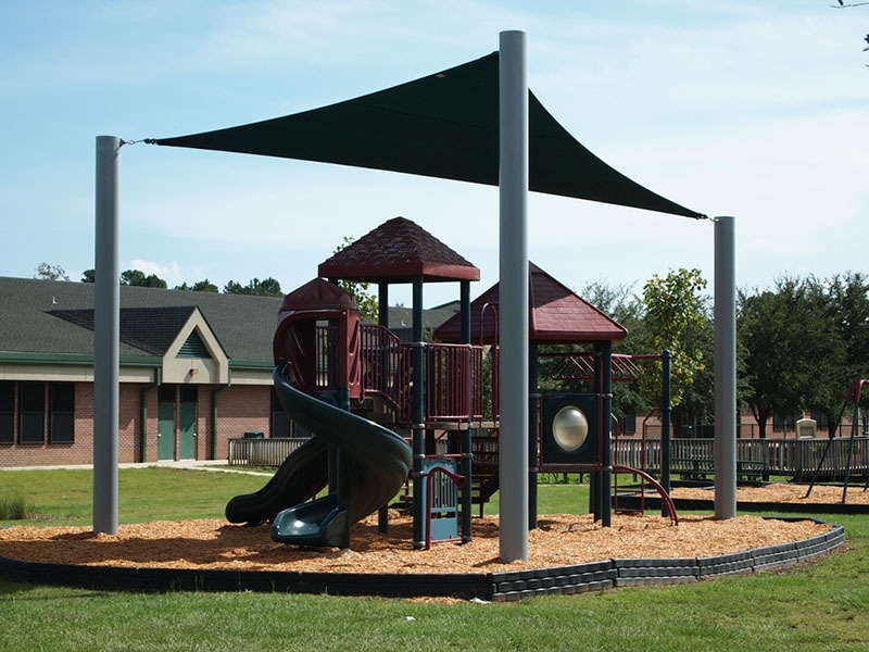 Elementary School Playground Sail Shade Structures 13