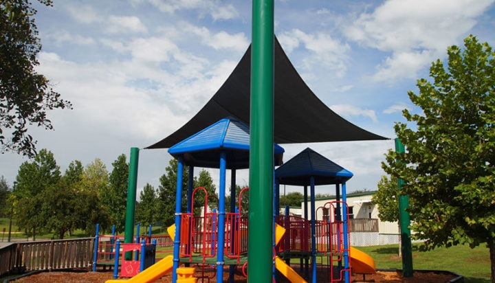 Elementary School Playground Sail Shade Structures 15