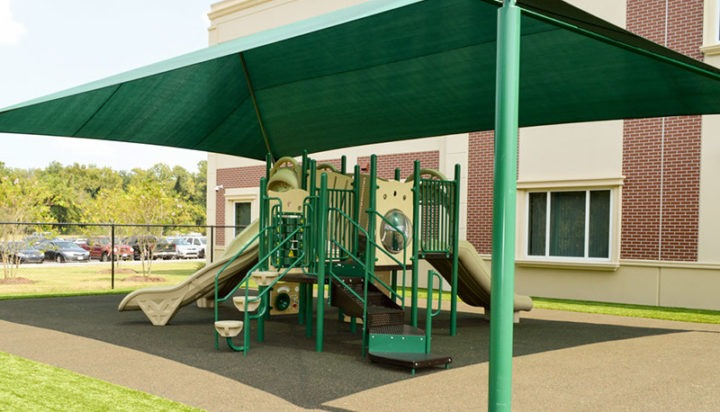 Florida Charter School Playground Equipment Shade Structure Rubber Surfacing 12