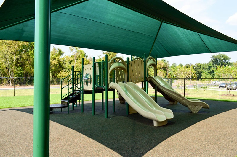 Florida Charter School Playground Equipment Shade Structure Rubber Surfacing 18