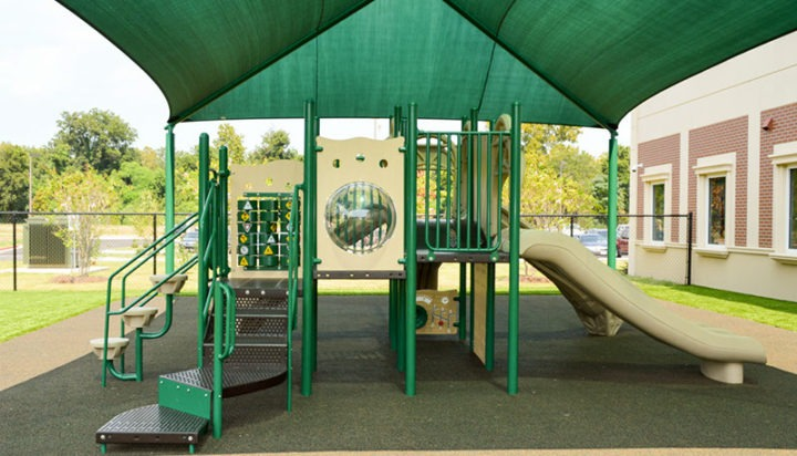 Florida Charter School Playground Equipment Shade Structure Rubber Surfacing 2