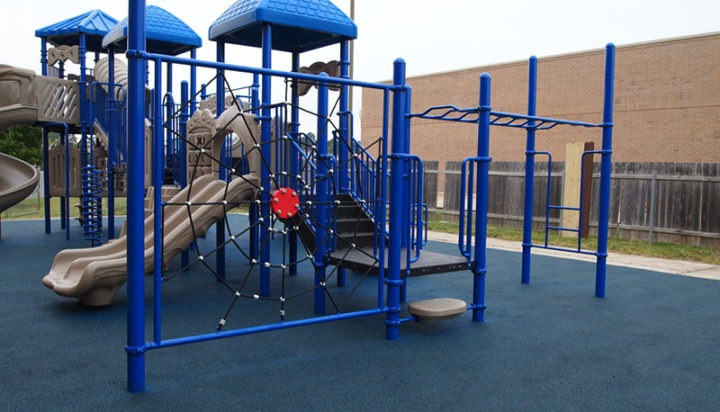 Florida Church Double Decker Commercial Playground Equipment Rubber Surfacing 15