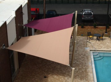 Custom hyperbolic sail shades