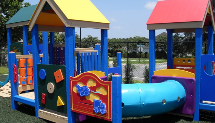 Florida Daycare Commercial Playground Equipment Rubber Mulch 10