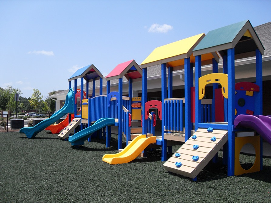 Florida Daycare Commercial Playground Equipment Rubber Mulch 12