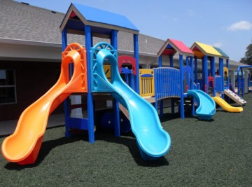 Florida Daycare Commercial Playground Equipment Rubber Mulch 49