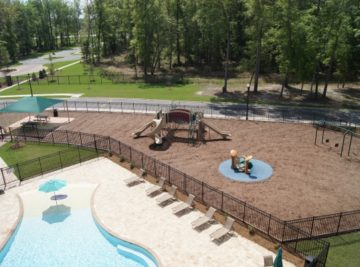 Thomasville commercial playground and surfacing install