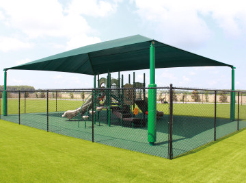 Kissimmee commercial playground, shade and surfacing install