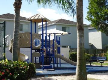 Beach themed commercial playground
