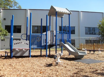 Church playground equipment and surfacing install