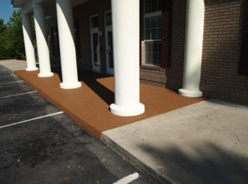 Tallahassee Florida Poured In Place Rubber Entrance at Daycare 11