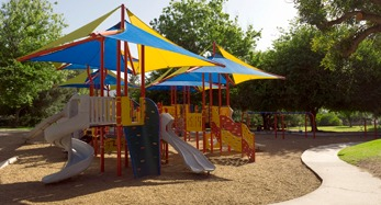 Colorful commercial playground equipment