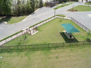 Apartment complex dog park