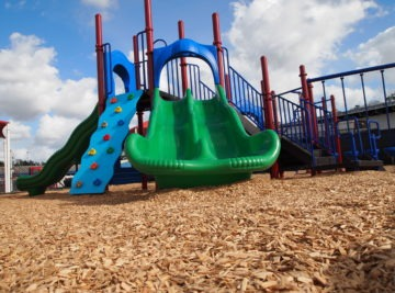 Tallahassee school playground, independent climbers and surfacing