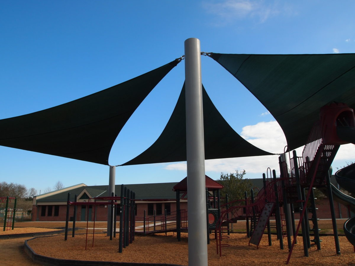 Florida elementary school playground sail shades pro for Shade sail cost