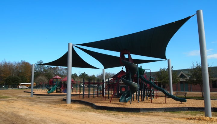 Tallahassee custom playground sail shade structures 6