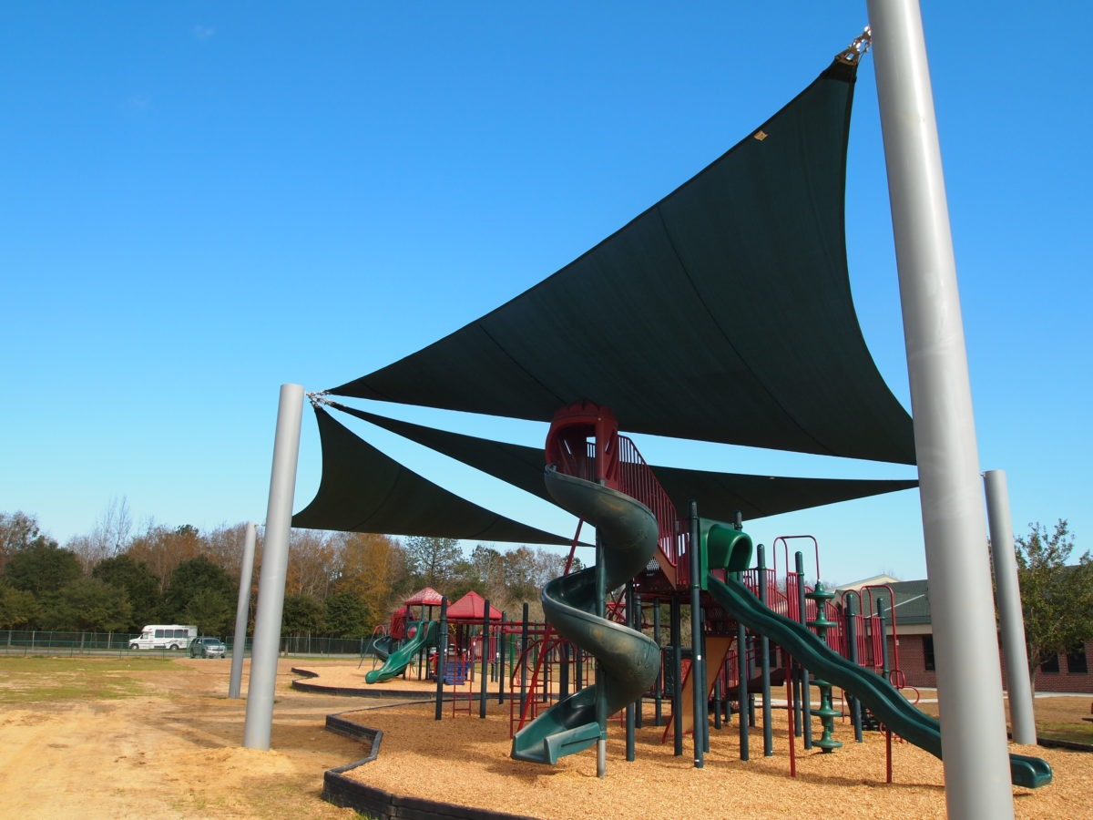 Tallahassee custom playground sail shade structures 7