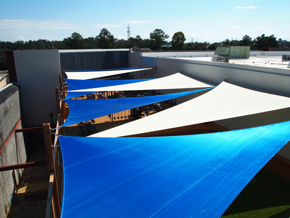 Rooftop Sail Shade Structures 1