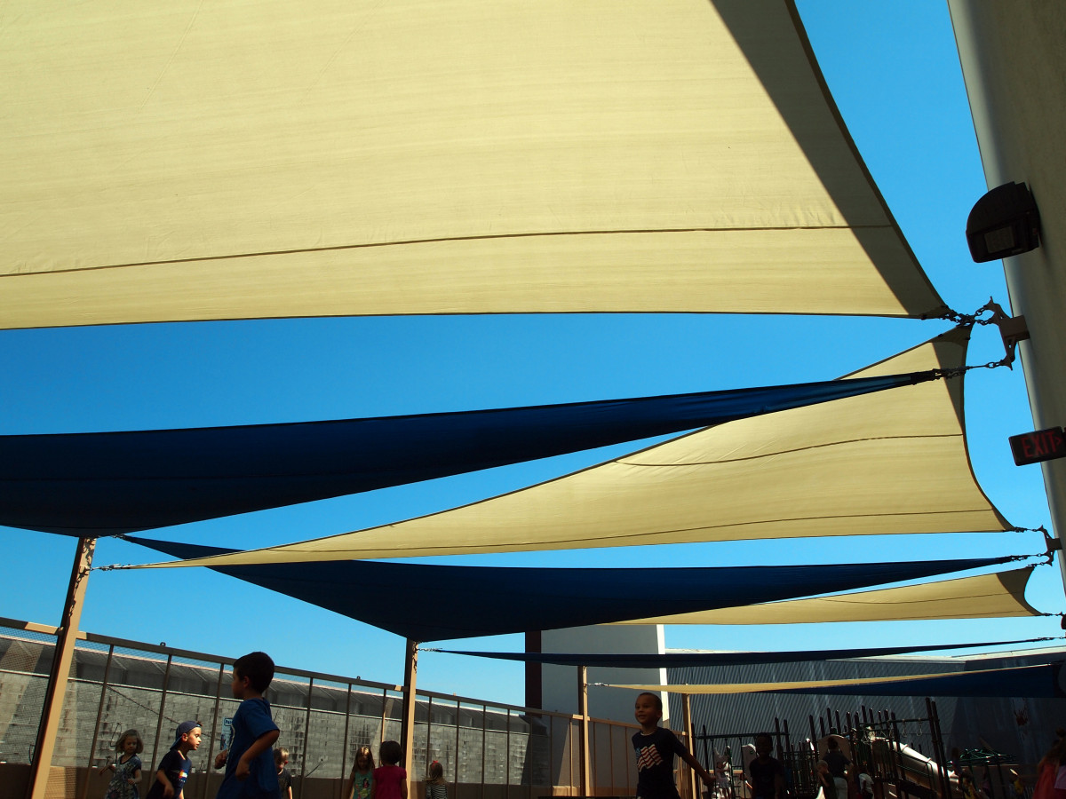 Rooftop Sail Shade Structures 14