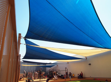 Rooftop Sail Shade Structures 16
