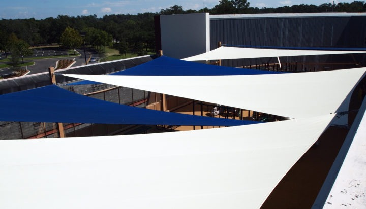 Rooftop Sail Shade Structures 5
