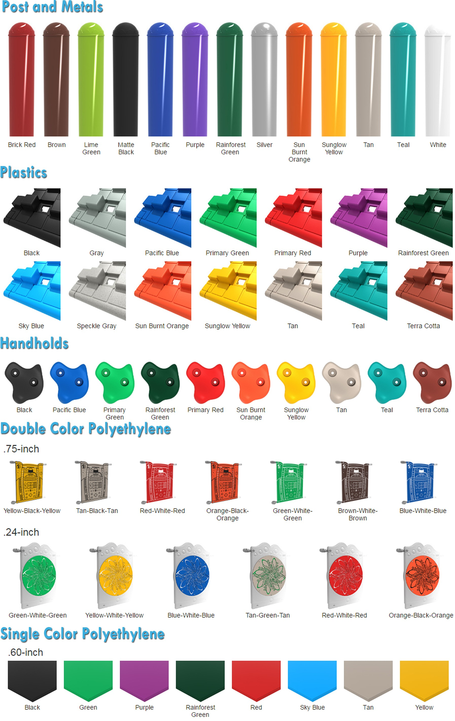 Playground Equipment Color Options