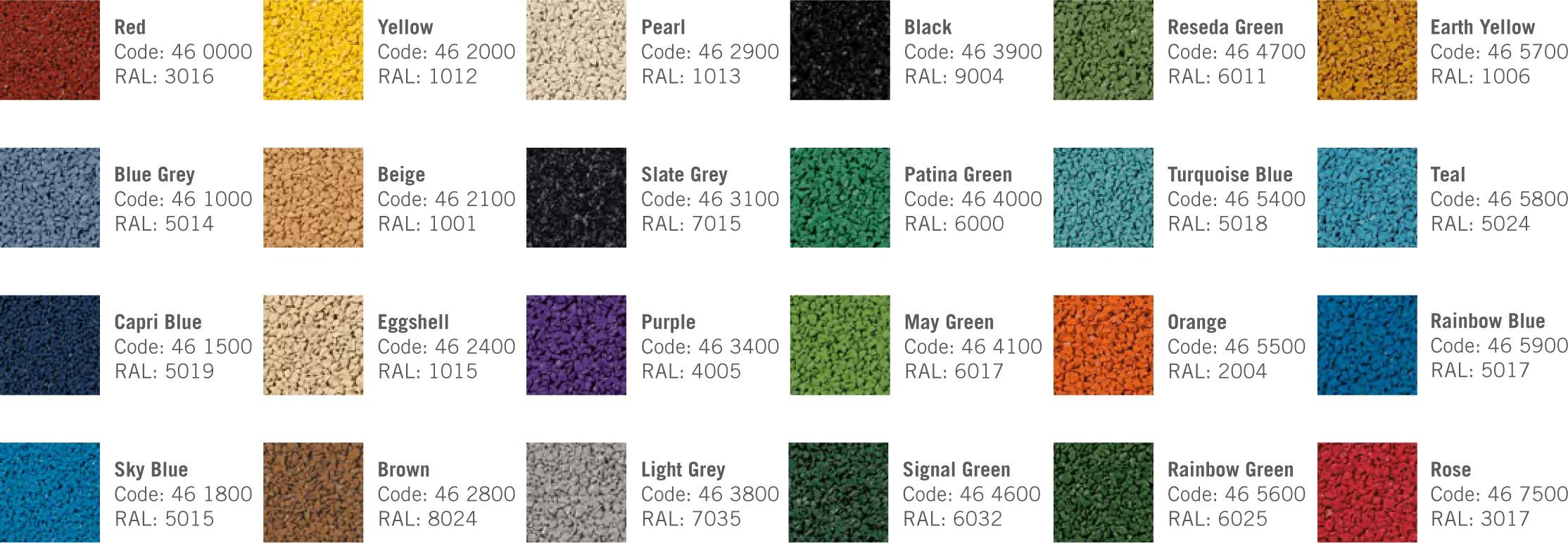 EPDM Color Options