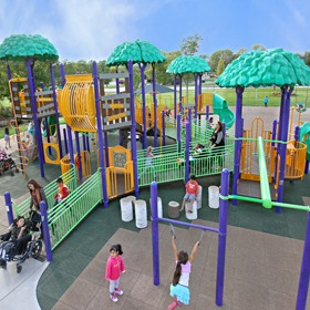fully accessible ada playground structures