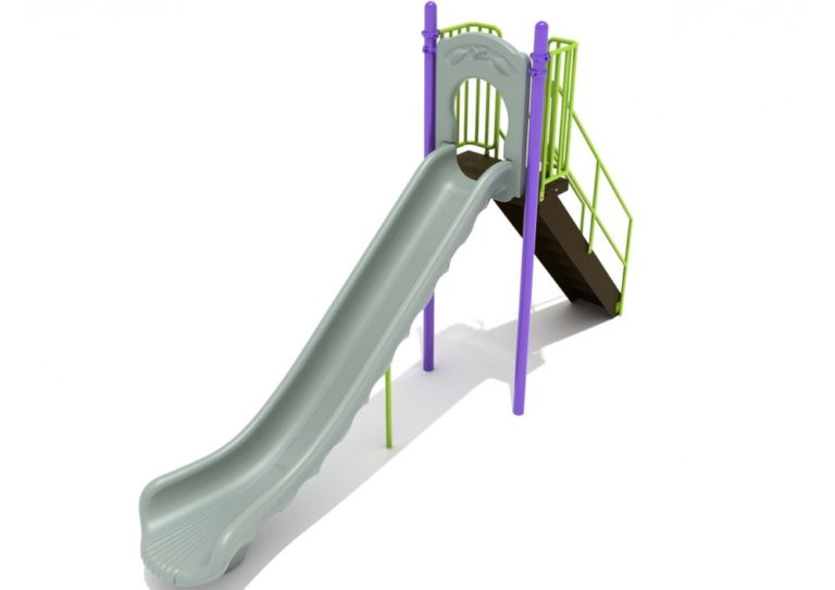 6 foot single straight commercial slide 1