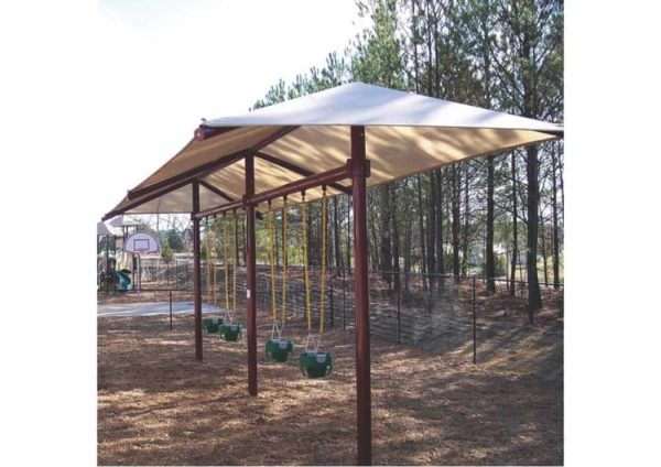 8 feet high regal single post commercial swing with shade 1