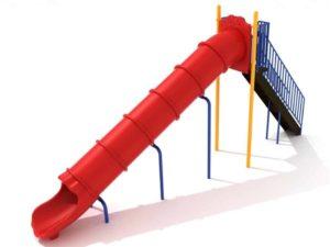 8 foot straight commercial tube slide 1