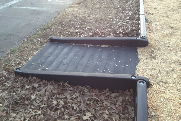 ada commercial half ramp for playground timbers 1