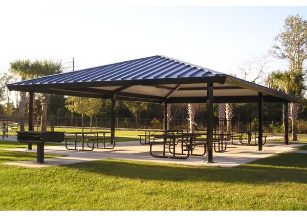 Steel Outdoor Shelters : All hip steel shelter pro playgrounds the play