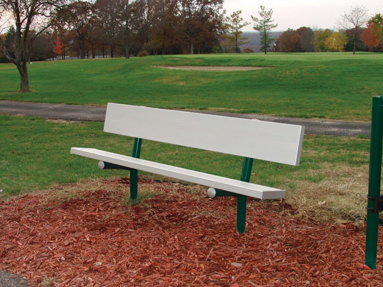 aluminum commercial park bench 1