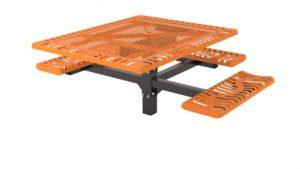 classic pedestal picnic table ada inground mount