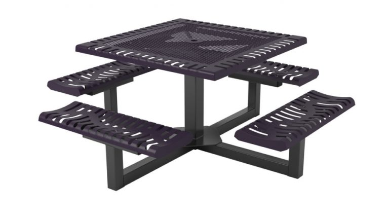 classic pedestal picnic table portable