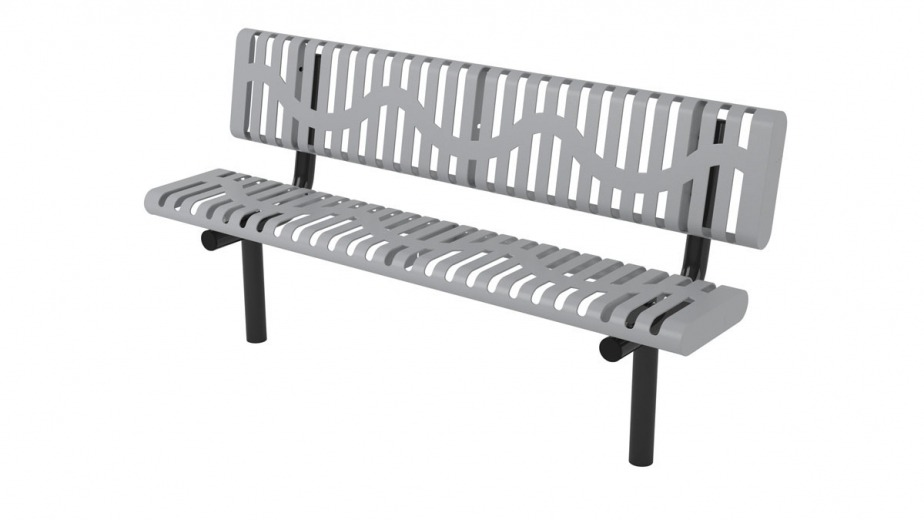 classic rolled bench inground mount
