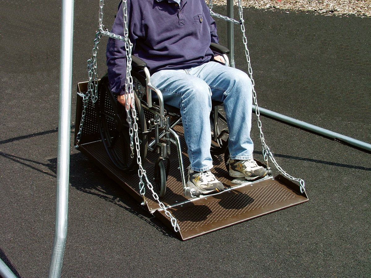 Wheelchair Swing Platform Only Playground Equipment Pro