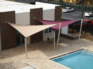 custom commercial sail shade structure 11