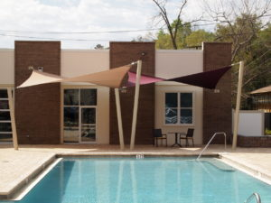custom commercial sail shade structure 13