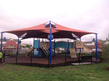 custom commercial sail shade structure 7