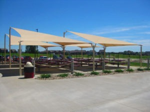 custom commercial sail shade structure 8