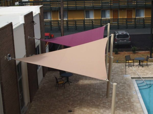 custom commercial sail shade structure 9